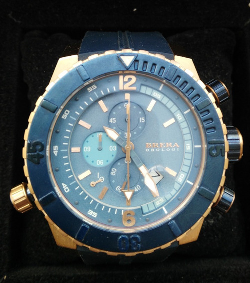 Reloj Brera Orologi Caballero Azul Y Oro Rosa