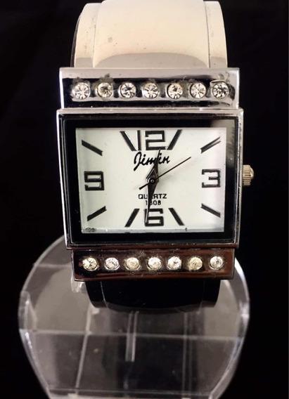 Relógio Feminino Jimin Branco Produto De Mostruário 023