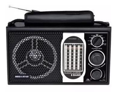 Rádio Portátil 8 Faixas Usb/sd/mp3 Bluetooth Bat Recaregavel