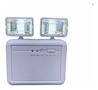 Luminária De Emergência P/ Área De 250m2 Com 1200 Lumens Bivolt 110/220v Comercial Industrial Residencial Lanterna