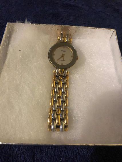 Reloj Rado De Dama Bañado En Oro