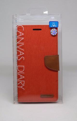 Funda LG V10 Mercury Goospery Canvas Diary Naranja