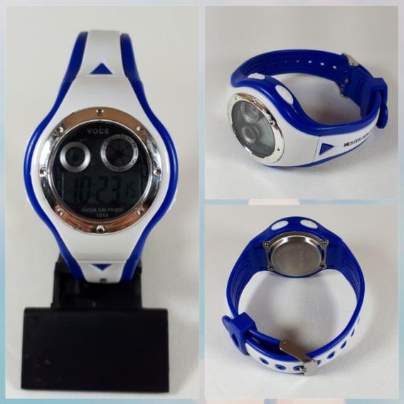 Relógios Digital Crianças Jovens Led Luz Noturna Azul