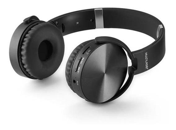 Headphone Premium Bluetooth Sd/aux/fm Preto Multilaser Ph264