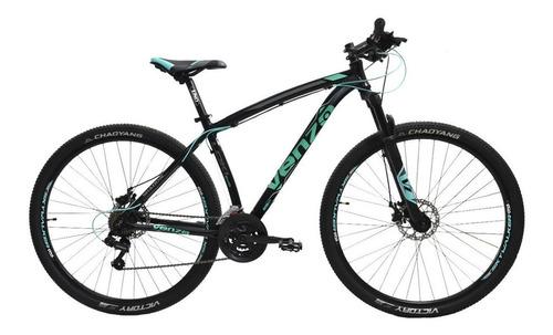 Imagen 1 de 1 de Mountain bike Venzo Shadow Series Loki Evo R29 L 21v frenos de disco mecánico cambios Shimano color negro/teal