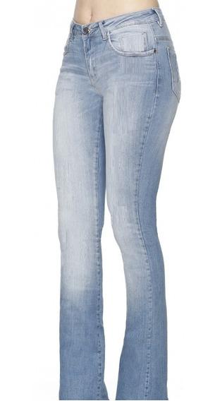 Calça Feminina Blue Denim Boot Cut Cos Medio Bd2385