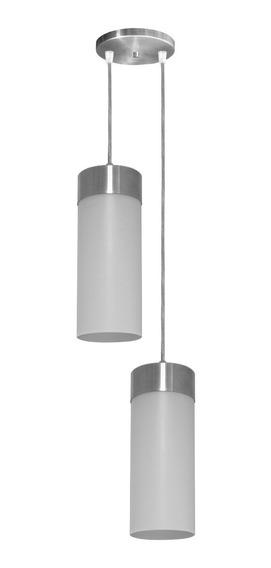 Pendente Copo Duplo Para 2 Lampadas Canopla Em Aluminio