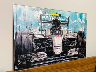 Cuadro Mercedes Benz Lewis Hamilton Nico Rosberg F1 40x60