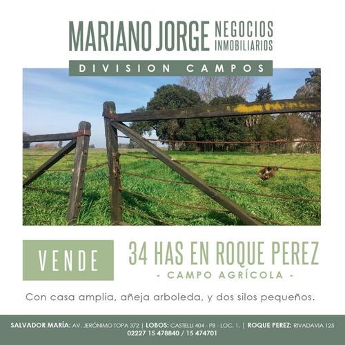 34 Has Sobre Ruta 30 - Roque Pérez. Precio Por Hectárea.
