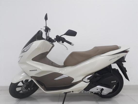 Honda Pcx Dlx Branca Perolizada Linda