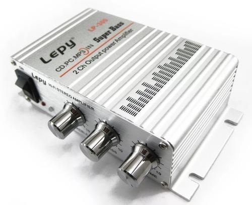Mini Amplificador Potencia Lepy Lp300 Entrada Audio Rca/aux