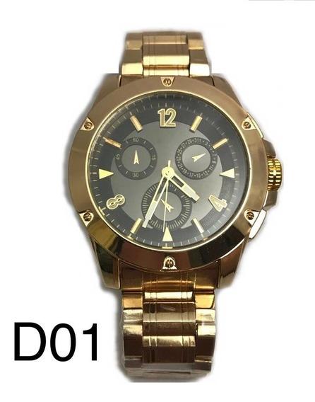 Relógio Masculino Luxo Dourado
