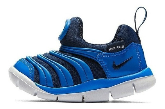 Tênis Nike Dynamo Free Infantil Kids Original Azul Flexível