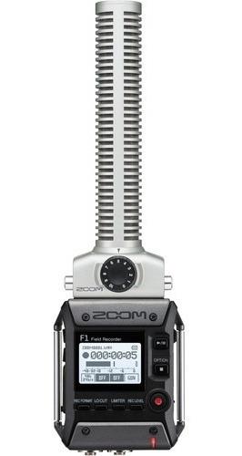 Imagem 1 de 10 de Gravador De Campo Zoom F1-sp Field Com Microfone Shotgun
