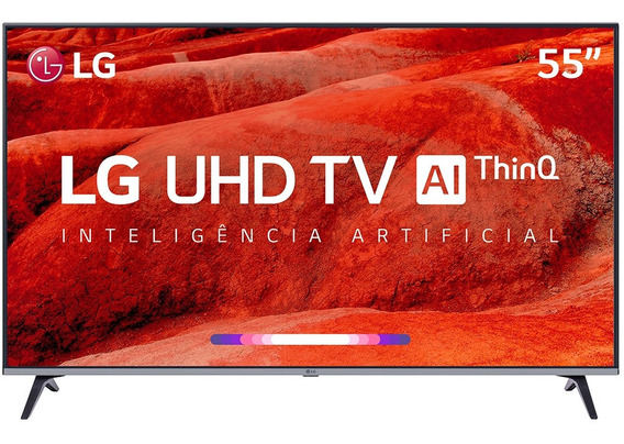Smart Tv Led 55 Lg 55um7520 Ultra Hd 4k Thinq Ai Conversor