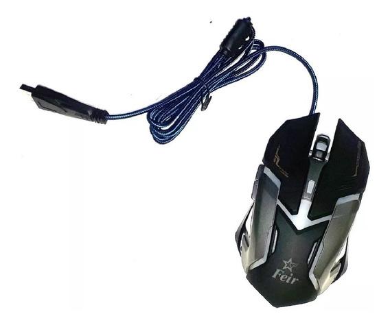 Mouse Gamer 2400 Dpi Gaming Plug & Play Feir Fr-405