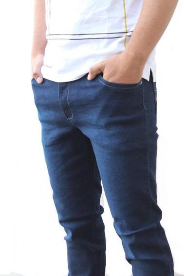 Jeans Skinny Pantalon Strech Caballero Mezclilla