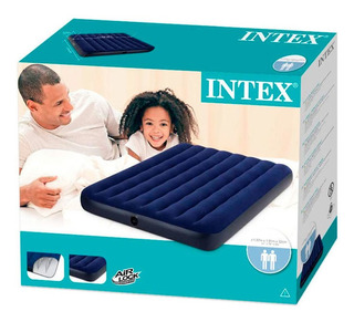 Colchon Inflable Intex 137 X 191 X 22cm Modelo Mediano 68758