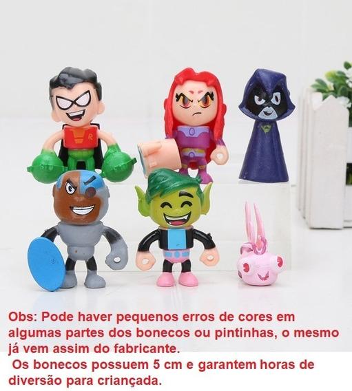 Teen Titans Go Jovens Titãs Em Ação Brinquedo Kit 6 Bonecos