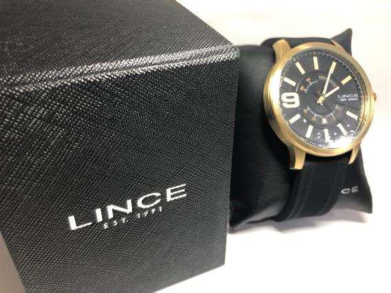 Relógio Lince Mrph055s-p2px Dourado/preto