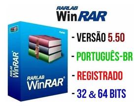 Winrar 5.50 Registrado, Em Português 32 E 64 Bits