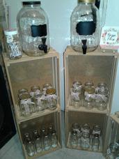 Alquiler Dispensado De Bebidas Mason Jar Boda Fiestas Vidrio
