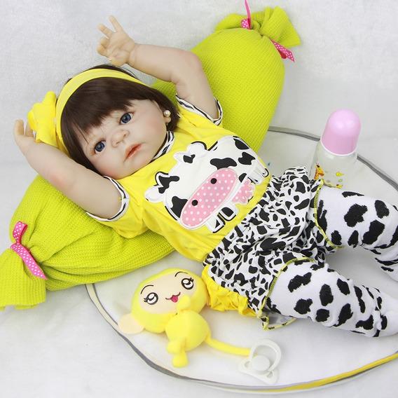 Bebe Reborn Menina 0032 Inclui Acessórios Pronta Entrega