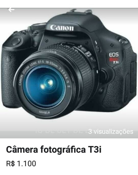 Câmera Fotográfica T3i Eos