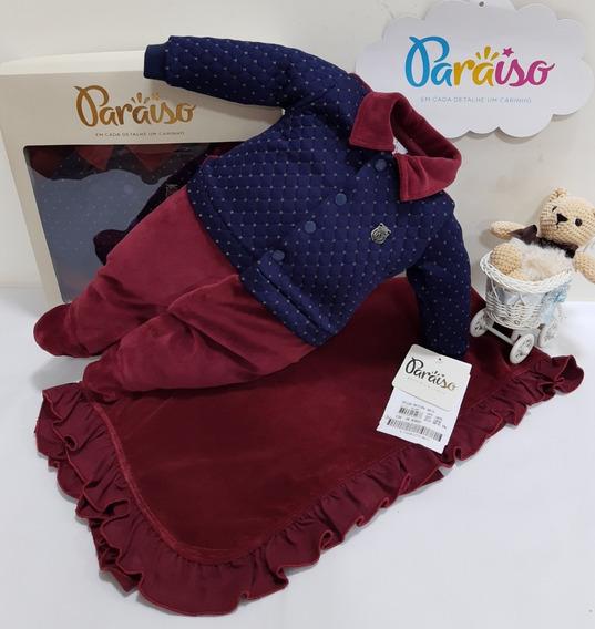 Saida Maternidade Paraiso Bebê Menino Plush Cod 9076