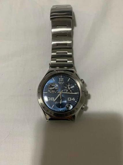 Relógio Swatch Irony Fundo Azul