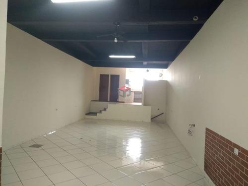 Imagem 1 de 7 de Salão Comercial Para Aluguel, 140 M², Jardim Stella - Santo André/sp - 87775