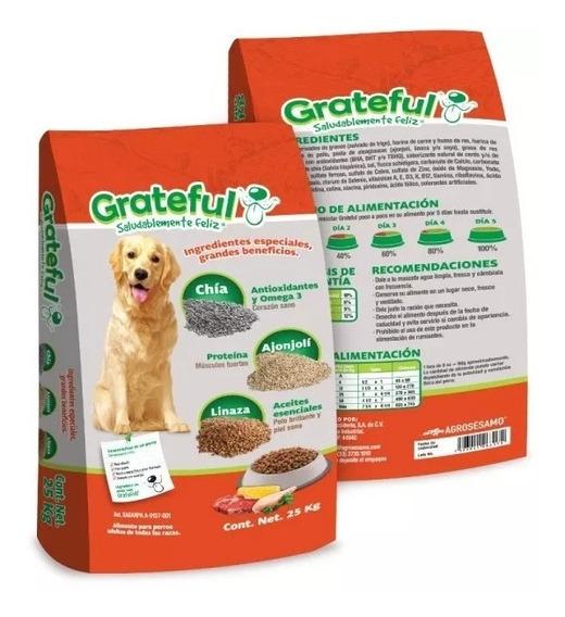 Grateful Adulto 25kg Croqueta Alimento Para Perro