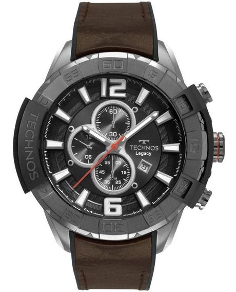 Relógio Masculino Technos Legacy Os10ff/2p 56mm Couro Marrom