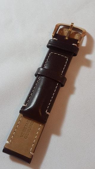 Pulseira Couro Marrom Calvin Klein Fivela Bronze 20/208 Mm