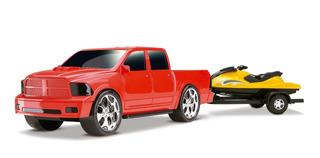 Carrinho Pick Up Scorpion Dodge Ram Com Jet Ski