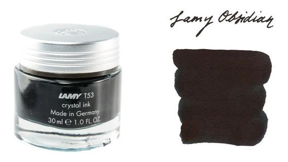 Tinta Lamy Crystal T53 Estilografica X 30 Ml Obsidiana