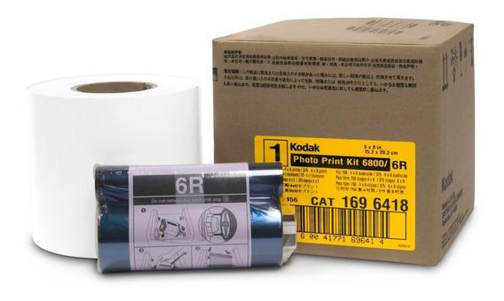Kit Papel Kodak P/ Impressora 605/6800 - 750 Fotos 10x15