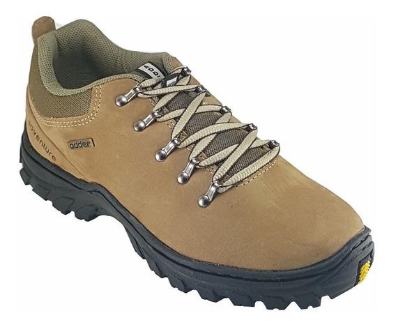 Sapato Tenis Masculino Adventure Couro Nobuck 0802