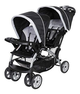 Coche Baby Trend Sit N Stand Double Mellizos Gris Gemelar