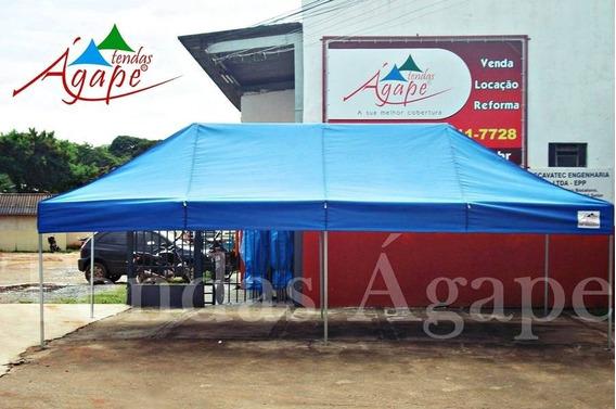 Tenda Super Forte 6x3 Sanf. C/ 01 Lateral 6m E 3 Lat De 3m