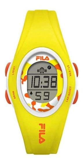 Relógio Feminino Fila Digital Amarelo Original