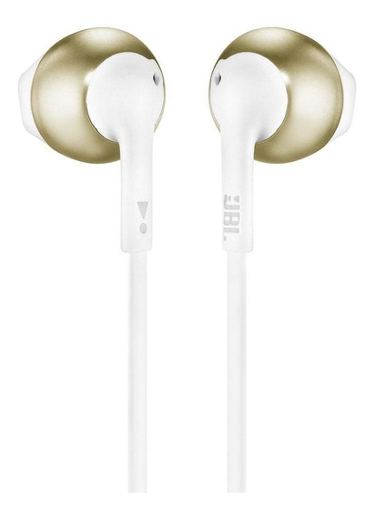 Fone De Ouvido Bluetooth Jbl Tune 205bt Branco E Dourado