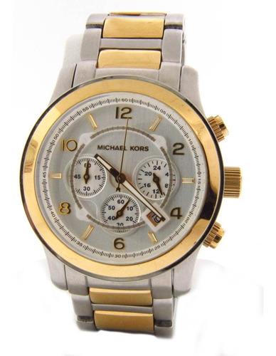 Relógio Michael Kors Mk8283 Runway Orig Gold Silver
