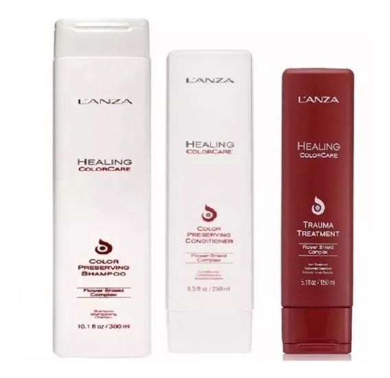 Kit Lanza Healing Colorcare Color Preserving Shampoo 300ml + Condicionador 300ml + Trauma Treatment 150ml + Brinde
