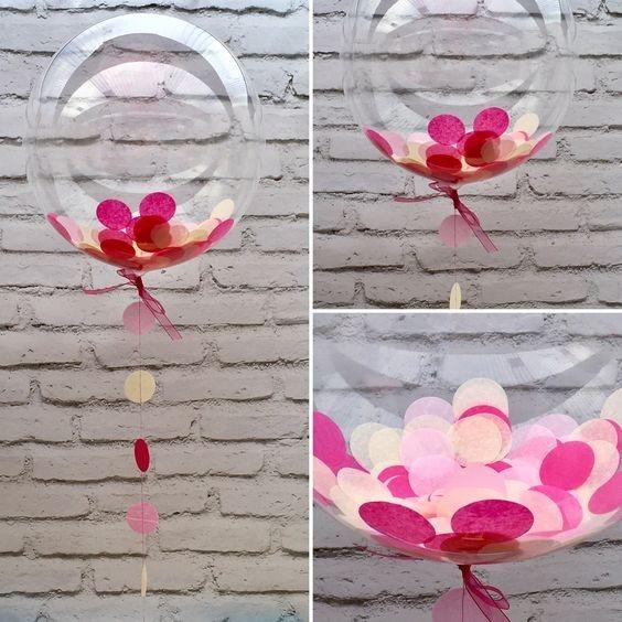 Globos Burbuja Cristal Personalizado Con Confeti