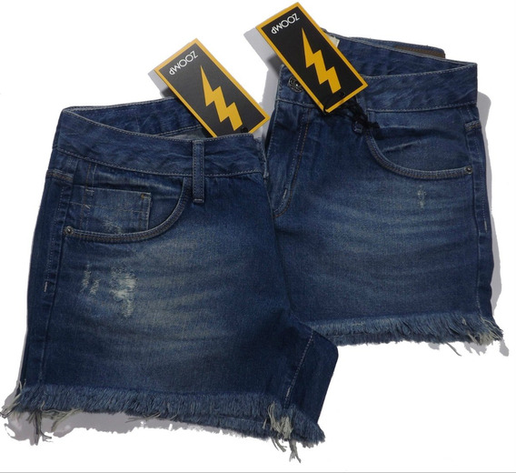 Short Jeans Zoomp Feminino-código Uni000637-universizeplus
