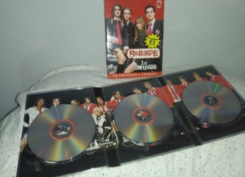 Box Em Dvds Da Primeira Temporada Do Rebelde - Original