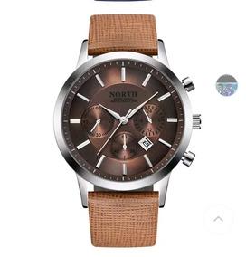 Relógio Masculino North Muito Elegante +brinde
