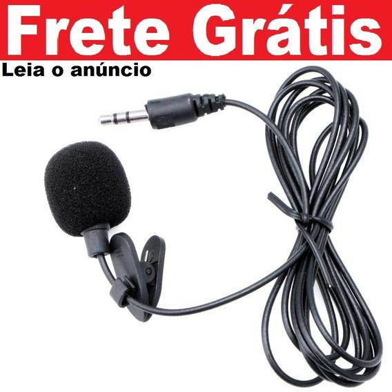 01pçs Mini Microfone De Lapela Plug P2 Stéreo Ótima Captura