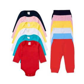 Kit 40 Pçs Body + Calça Infantil Bebê Menino/menina Algodão
